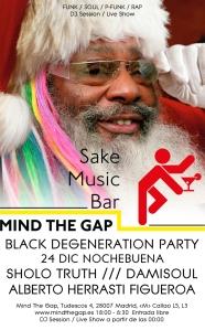 Cartel de la fiesta de Nochebuena en Mind The Gap