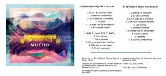 Tracklist de 'El apocalipsis según MUCHO'