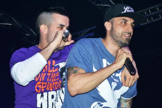 Toteking y Shotta durante su actuación en la Sala Copera. // Fotografía por Andrea Martí Salas.