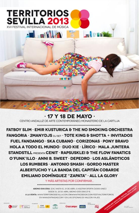 Cartel del Festival Territorios. Más información en la página 18 de la revista.