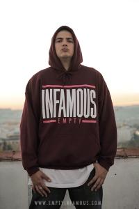 Fotografía promocional para la marca Empty Infamous.