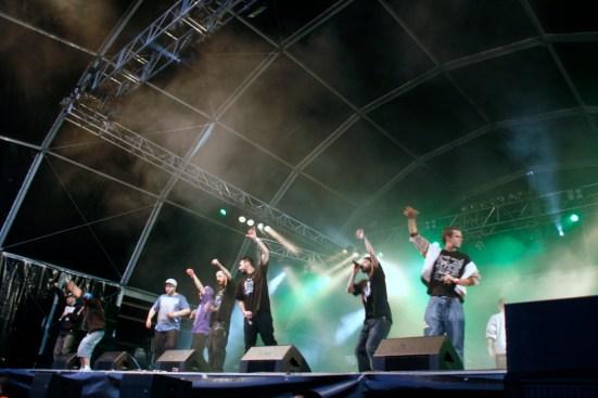 Crew Cuervos durante su actuación en el VR / Fotografía por María Rosa Sánchez.