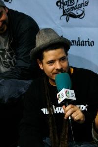 Rapsusklei durante la rueda de prensa.// Fotografía por María Rosa Sánchez.