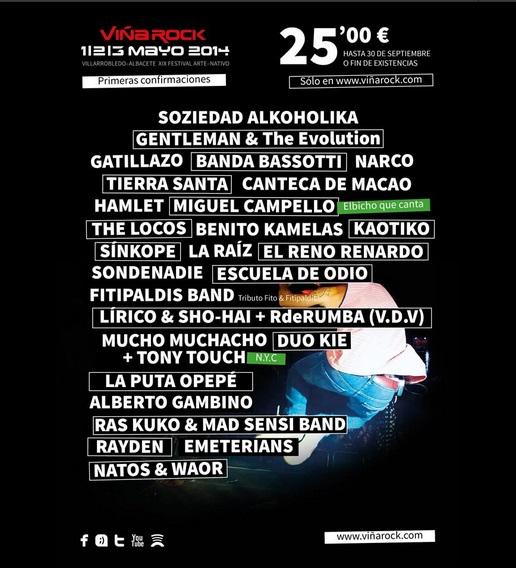 Cartel del primer adelanto del festival. // vina-rock.com