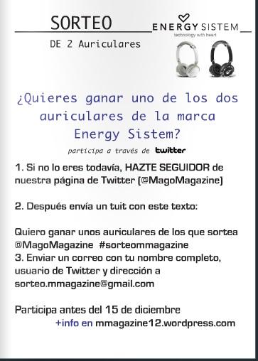 Sorteo de dos auriculares de la marca Energy Sistem.