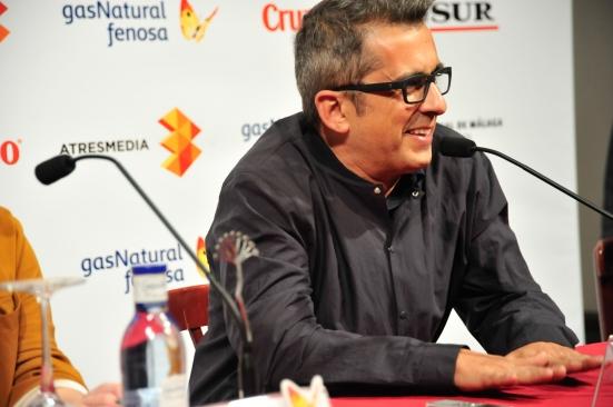 Buenafuente durante la rueda de prensa de presentación, en el Festival de Málaga.