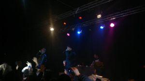 Natos y Waor durante su actuación el a sala Cochera Cabaret.