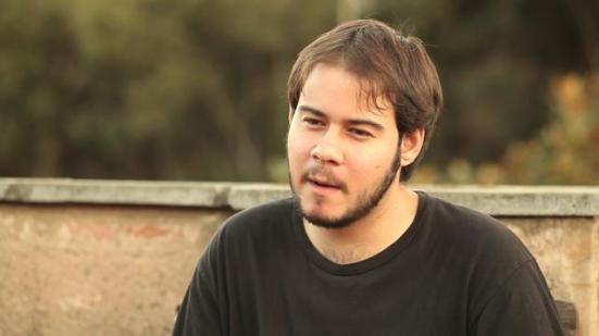 """Fotografía del rapero Pablo Hasél, condenado a dos años por """"enaltecimiento del terrorismo""""."""