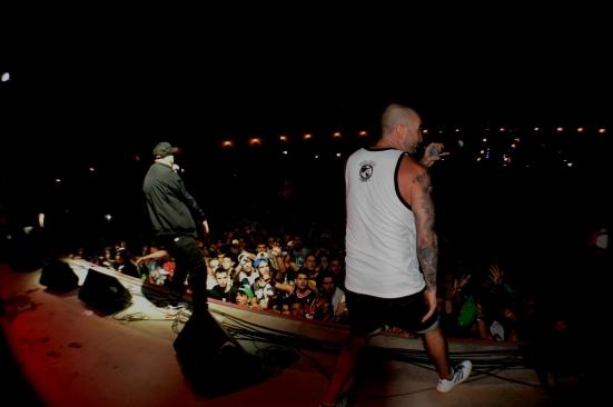 Mala Juntera entró en acción: cuatro 'dinosaurios' del rap que devoraron el escenario. Imagen: Moledirco.