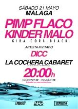 Kinder Malo y Pimp Flaco se estrenan enMálaga